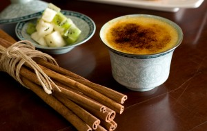 Crème Brûlée with Masala Chai and Citrus Biscotti